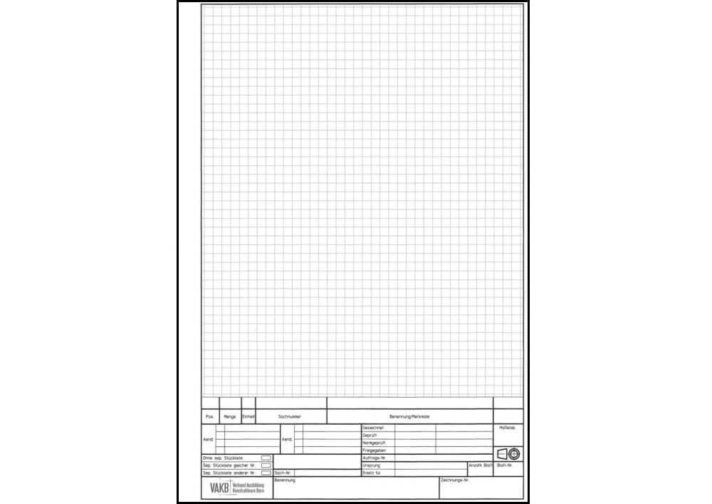 Skizzierpapier A4 kariert