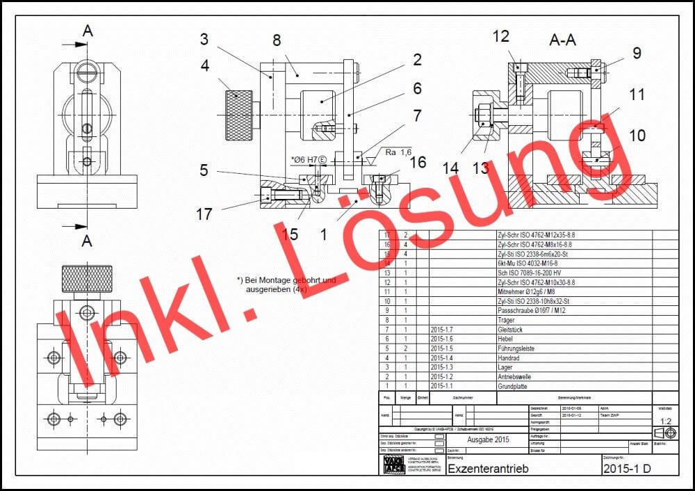 VAKB-Zwischenprüfung 2015: Exzenterantrieb