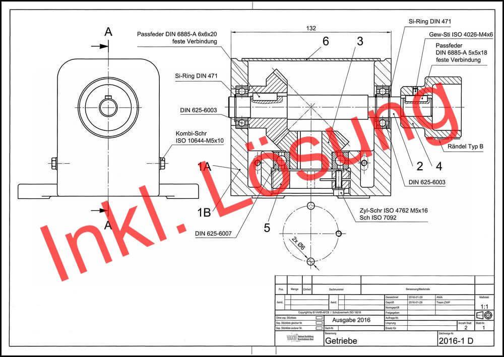 VAKB-Zwischenprüfung 2016: Getriebe