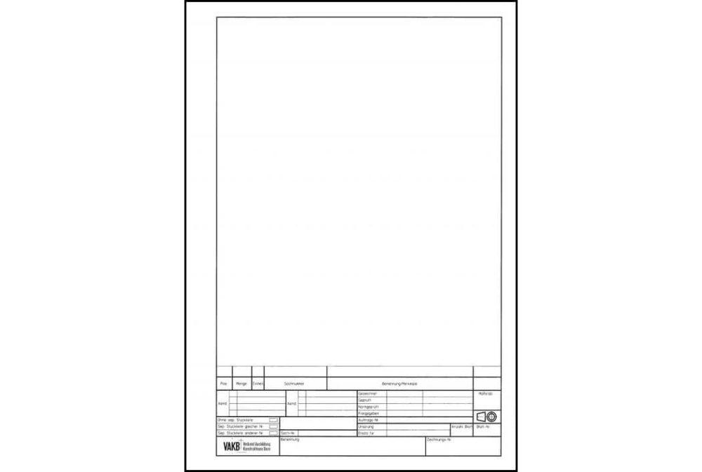 Skizzierpapier A4 unkariert
