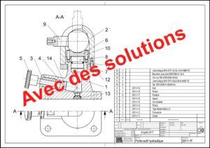 Examen intermédiaire 2011: Porte-pièce hydraulique